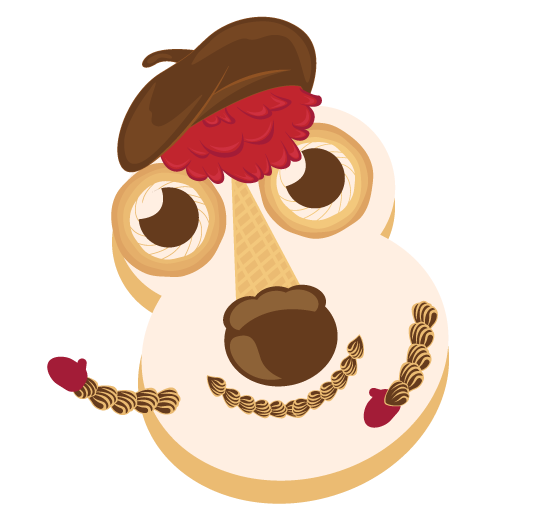 Cookie Puss Cake vector