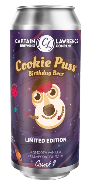 Cookie O'Puss Birthday Beer Can