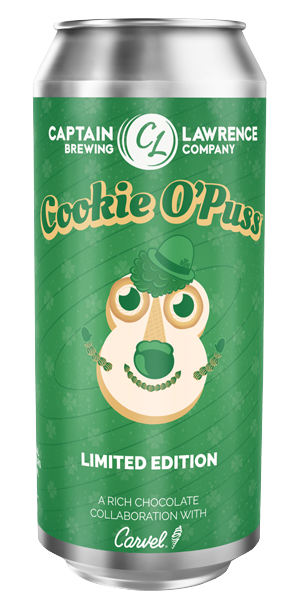 Cookie O'Puss St. Patrick's Day Beer Can